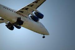 Aircraft. Landing aircraft Stock Images