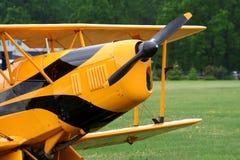 Aircraft. Classic plane stock image