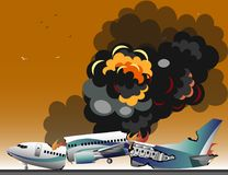 Aircraft accidents  Royalty Free Stock Images