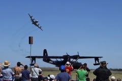 Aircraft Acrobatics. Acrobatic display at the 2013 Australian Airshow at Avalon VIC Stock Photo