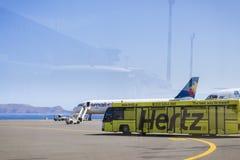 Aircraft Airbus A320 and Cobus 3000, Heraklion Airport N. Kazant Royalty Free Stock Images