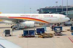 Aircraft Airbus 330-300 HongKong Airlines royalty free stock images