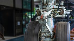 Aircraft Airplane Wheel Parking Lot stock photos