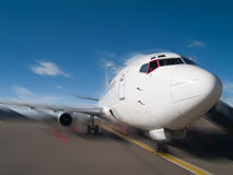 Aircraft at the airport Royalty Free Stock Photos