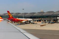 Aircraft in airport of Hong Kong royalty free stock image