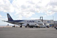 Aircraft at the airport of La Paz. Royalty Free Stock Photo