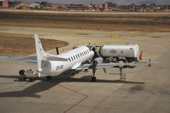 Aircraft at the airport of La Paz. Royalty Free Stock Image