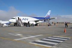 Aircraft at the airport of La Paz. Stock Photos