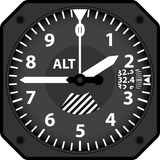 Aircraft altimeter Royalty Free Stock Photos