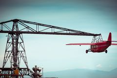 Aircraft in the amusement park Royalty Free Stock Photography