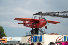 Aircraft in the amusement park on the Tibidabo. Stock Image