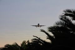 Aircraft in Approach. To Ibiza Airport Royalty Free Stock Photos