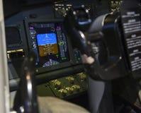 Aircraft attitude indicator display panel.  royalty free stock image