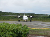 Aircraft_004. The Aviastar aircraft taxiing on Stock Image