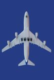 Aircraft on blue. Generic aircraft model,  isolated on blue Stock Image