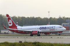 Aircraft Boeing737 Airberlin taking off Stock Photography