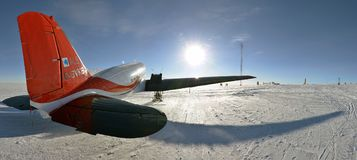 Free Aircraft BT-67 In Antarctica At Vostok Station Royalty Free Stock Images - 120020479