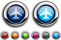 Aircraft button. Stock Photos