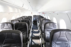 Aircraft cabin of an Airplane Stock Images