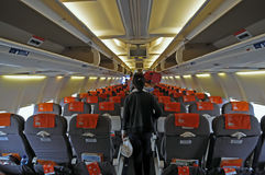 Aircraft cabin Stock Photo