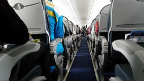 The aircraft cabin. stock footage