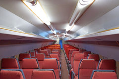 Aircraft cabin of an old airplane Royalty Free Stock Images