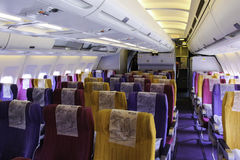Aircraft cabin Royalty Free Stock Photo