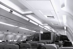 Aircraft Cabin View Stock Image