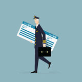 Aircraft Captain. Royalty Free Stock Images