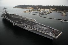 The aircraft carrier Stock Photo