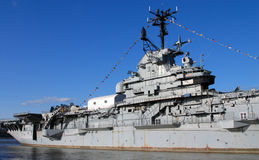 Aircraft carrier. Picture was taken in the Navy museum in New York Stock Photography