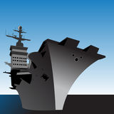 Aircraft carrier. An illustration of a carrier Stock Images
