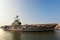 Aircraft carrier as museum in New York Royalty Free Stock Photos