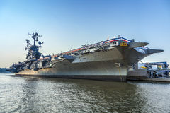 Aircraft carrier as museum in New York Royalty Free Stock Image