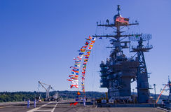 Aircraft Carrier Bridge Royalty Free Stock Photography