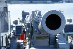 Aircraft Carrier Cannon Royalty Free Stock Images