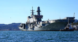 Aircraft carrier Cavour Royalty Free Stock Image