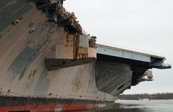 Aircraft Carrier Close-Up Royalty Free Stock Images