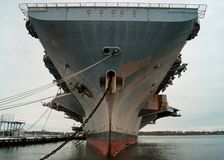 Aircraft Carrier Close-Up Stock Image