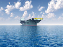 Aircraft Carrier. Computer generated 3D illustration with an Aircraft Carrier Stock Photo