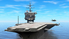 Aircraft carrier. 3D CG rendering of the aircraft carrier Stock Photos