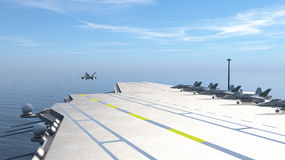 Aircraft carrier. 3D CG rendering of the aircraft carrier Royalty Free Stock Images