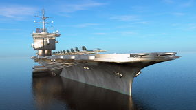 Aircraft carrier. 3D CG rendering of the aircraft carrier Stock Images