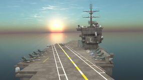 Aircraft carrier. 3D CG rendering of the aircraft carrier Royalty Free Stock Image