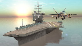 Aircraft carrier. 3D CG rendering of the aircraft carrier Royalty Free Stock Photography