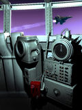 Aircraft carrier management control Stock Photo