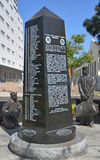 The Aircraft Carrier Memorial. SAN DIEGO CA USA APRIL 8 2015: The Aircraft Carrier Memorial commemorates all the U.S. Navy's aircraft carriers and all who have royalty free stock images