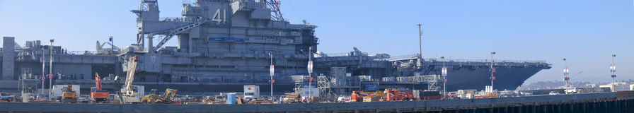 Aircraft carrier Midway as a museum in San Diego Stock Images