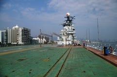 Aircraft carrier Minsk (China) Royalty Free Stock Photo