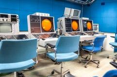Aircraft carrier navigation equipment at a military base royalty free stock image